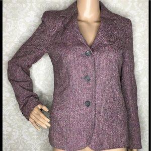 Hourihan Donegal Tweed Blazer Vintage Wool Ireland